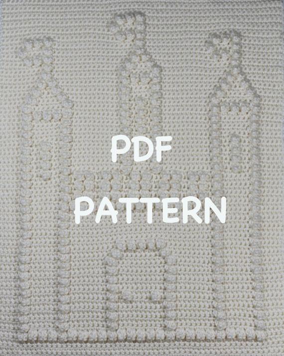 Castle Baby Blanket  Pattern - Crochet Baby Security Blanket  - Baby Snuggle Blanket - Carseat or Stroller Blanket
