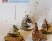 Rock Cairn with Dragonfly Place Settings, Set of Four