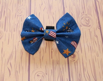 Bow Tie Dog Collar Accessory Fireworks