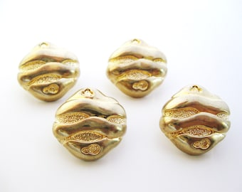 Gold buttons set of four