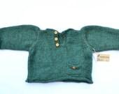 Baby sweater - Unisex - Possum Yarn - Merino - Warm