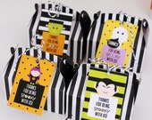 HALLOWEEN Printable Favor Tags - Trick or Treat cupcake tags and bag toppers