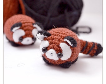 red panda pattern - cute amigurumi crochet pattern
