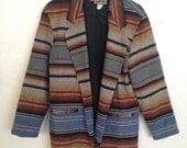 vintage serape blazer