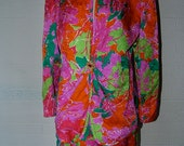 CLASSIC Vintage David Hayes for Nieman Marcus Floral Jacquard 100% Silk Skirt Suit Set 14
