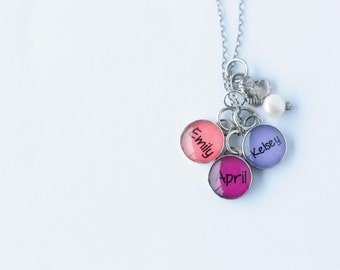 Necklace for Mom with 3 Charms
