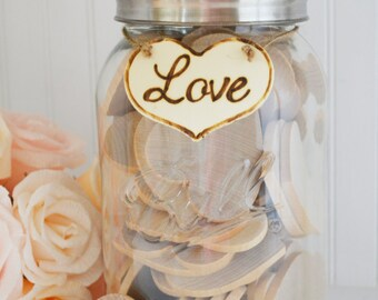 Extra Large Guest Book Mason Jar for 30-120 guests, Date Night Jar, Advice for the Bride, Love Note Jar