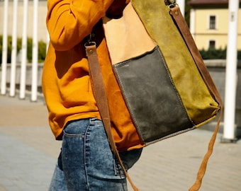 leather bag tote every day bag ladybuq