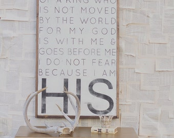 I Am His Daughter *The Original* - Wood Sign