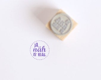 "Rubber Stamp ""ja näh is klar"" (German)"