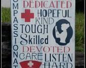 Nurse, Nurse Signs, Typography, Medical Nurse, Distressed, Wooden Signs
