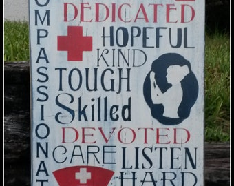 Nurse, Nurse Signs, Typography, Medical Nurse, Distressed, Wooden Signs