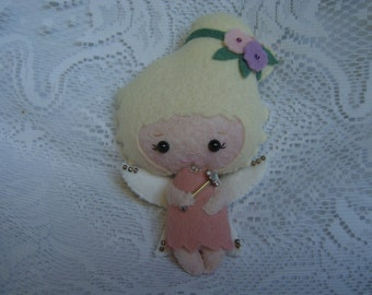 KAWAII ANGEL Doll - Felt -a Gingermelon Pattern