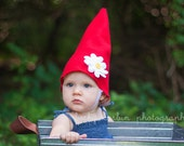 Flowered Gnome hat Halloween costume for baby/ toddler/ child/ adult