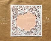 Seven Species Garden papercut ketubah