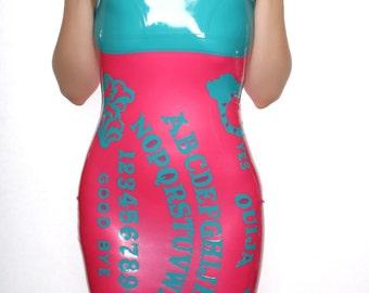 Abstract Ouija Board Latex Dress