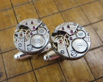 One of a Kind Piaget 6P1 Watch Movement Cufflinks. Great for Fathers Day, Anniversary, Wedding or Just Because