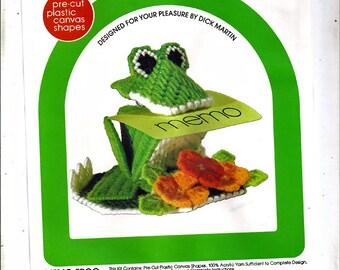 Memo Frog Plastic Canvas Kit  Canvas Capers Leisure arts 206