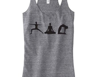 Womens Tank Top YOGA Racerback Tank Yoga Clothing Custom Screen Printed Available: S M L Xl Color Options