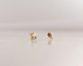 Herkimer Diamond Earrings In 14k Gold