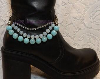 A Dreamer's Dream Boot Jewelry,Boot Bracelet, Boot Bling, Boot Jewelry,Cowgirl Boot Bling, Boot Band Bracelet