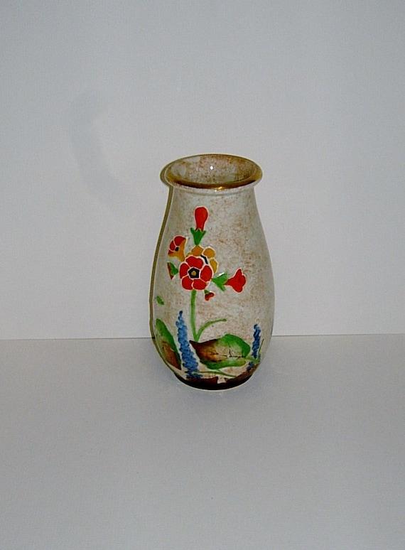 1920s Crown Ducal Vase AG Richardson Vase Art Deco Vase Vintage Vase Vintage Home Decor Vintage Housewares Antique Vase