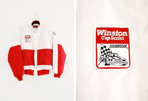 Vintage Nascar Jacket Winston Cup Series - Racing Jacket - Men's Parka Jacket - Size Small