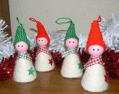 Cute little Christmas elf tree decoration