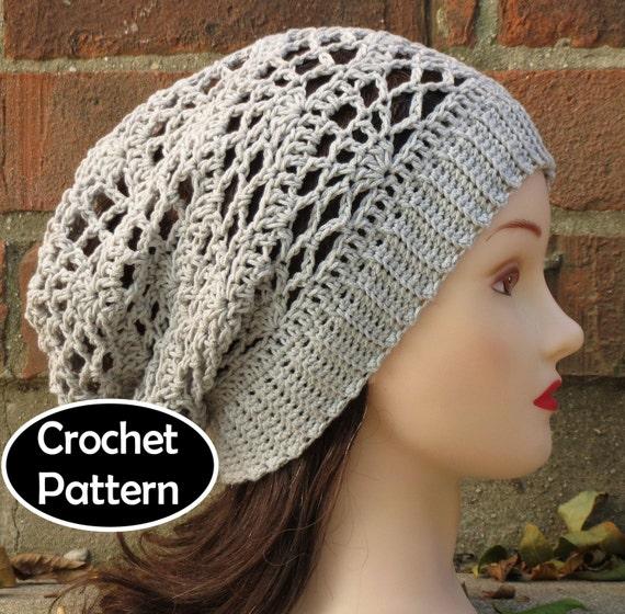 Crochet Hat Pattern Teenager : CROCHET HAT PATTERN Instant Download Arachne Slouchy Beanie