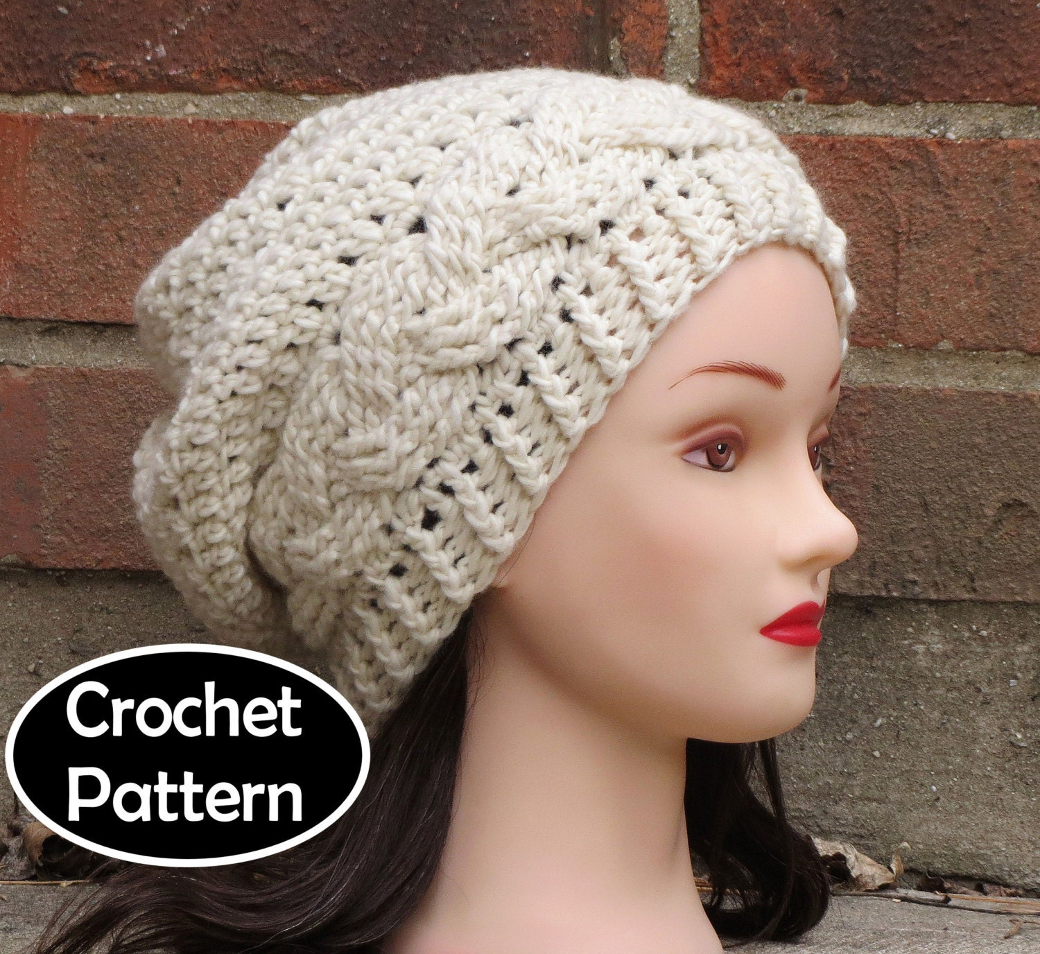 Crochet Hat Pattern Download : CROCHET HAT PATTERN Instant Pdf Download Julia Cabled