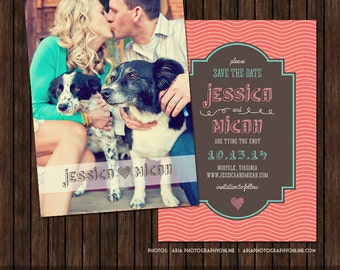 5x7 Save the Date Card Template - S10