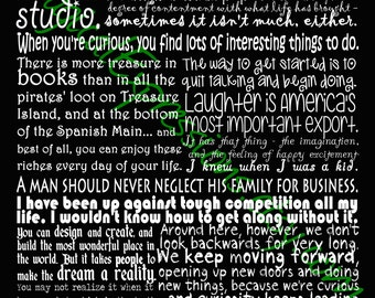 Walt Disney Quote Typography Wall Art Print  11 by 14 (Ready to ship)
