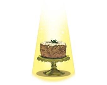 Pistachio Cake 8x10 Print