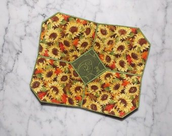 Sunflowers Fabric Bowl