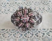 Vintage Jewelry Bracelet Dazzling Rhinestones