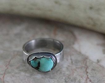 "Kingman Turquoise Ring - ""Cowgirl Ring"""