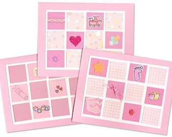 Baby Girl Thank-You Card Grab Bag - Cute Pink Quilt Cards - 20 Blank Cards for Thank-You Notes or Baby Shower