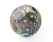 Large Abstract Lampwork Glass Bead (29069)