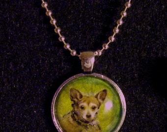 Miniature Painting Custom Pet Portrait Pendant Necklaces-Dogs-Cats-Horses-Animals-Pet Memorial Pendant