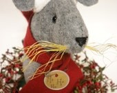 Santa Mouse, Christmas Mouse Centerpiece, Holiday Mice, Soft Sculpture Mouse, Winter Mouse