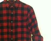 Mountain Blanket Buffalo Plaid Flannel Boy shirt Sixe XS 1990s Grunge