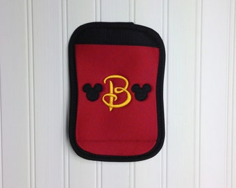 Disney Luggage or Stroller Tag Handle Wrap - Mickey Mouse Applique Embroidered DCL Disney Cruise Line Personalized