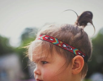 Child/Baby Size Red Aztec Tribal Headband