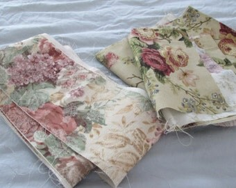 Odd fabric pieces flower pattern your creation. 7.00 for all.