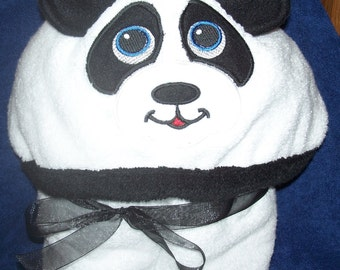 Panda Bear Hooded Towels - Free Personalization