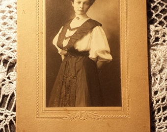 Vintage 1800s Photograph Lady 3 X 5 1/2 inches