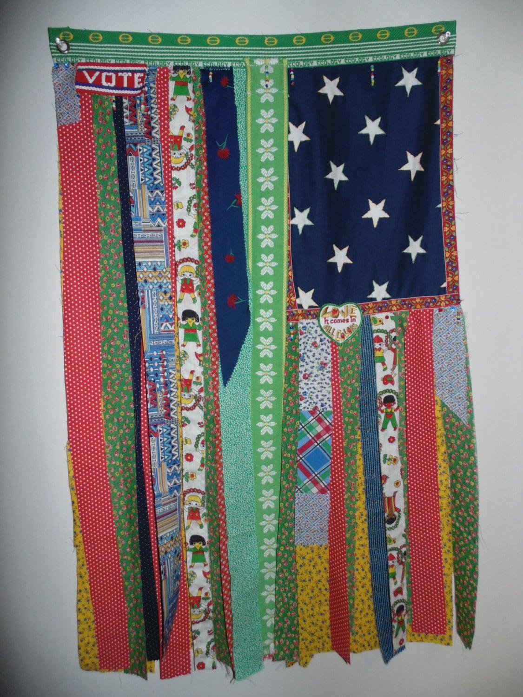 Bohemian Hippie Love Hand Beaded Curtain Eco Flag