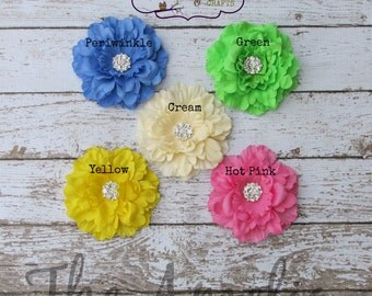 """The """"Amelia"""" 3"""" Peony Flower Clip - Choice of Color"""