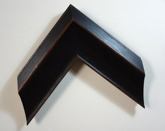 "Custom Frame, Dark Brown Wood, 2 5/8"" Wide, Made to Order"