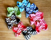 Chevron hair bow, Bow, Girls Hair Bows, Hair bows, Girls bows, U choose color, Children Baby Toddler Wedding Birthday Holiday Pageant